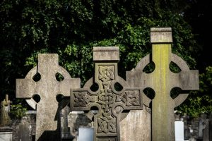 Graveyard Headstones Colour